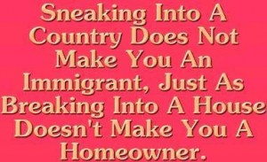 sneaking into a country