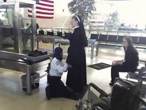frisking nuns